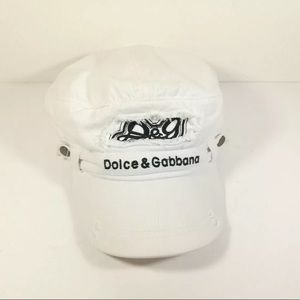 💥Dolce & Gabbana💥White Distressed Gatsby Hat
